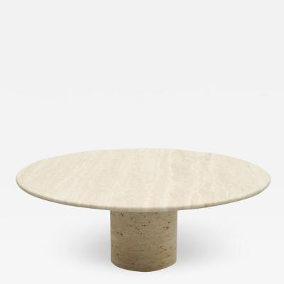 Coffee Table by Up Up in Italian Travertine Stone 1970s