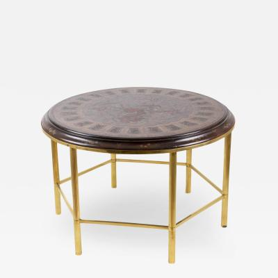 Coffee table in Persian style lacquer and gilt bronze 1950 s