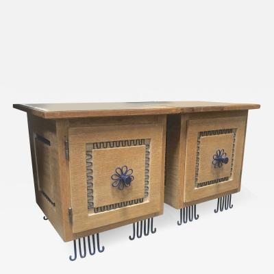 Colette Gueden Colette Gueden for Primavera charming pair of bedside or side table