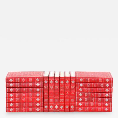Collection Gilt Leather Bound Books Twenty Volumes
