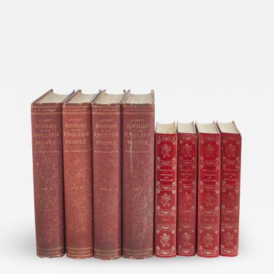 Collection Gilt Leather Bound Library Book Set