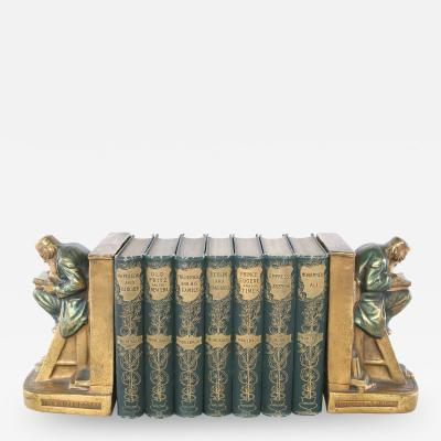 Collection Leather Bound Library Book Set