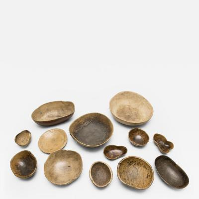 Collection of Swedish Burl Bowls