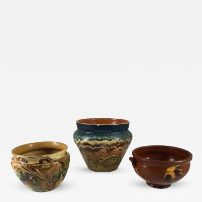 Collection of Three French Provincial Jaspe Bowls