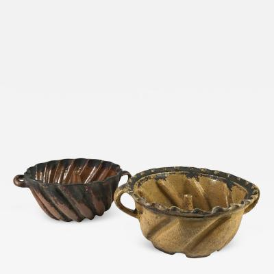 Collection of Two Very Early Pennsylvania Cake Molds Late 18th Century