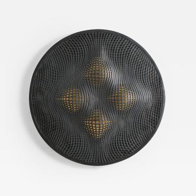 Colleen Carlson Colleen Carlson Dark Ash Optical Stoneware Sconce USA 2016