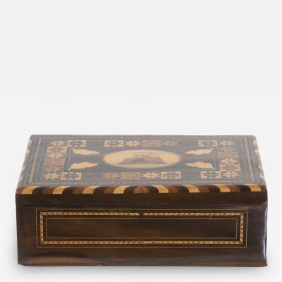 Colonial Coromandel Inlaid Box Mid 19th Century
