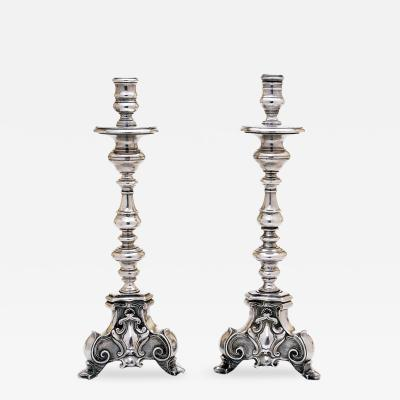 Colonial Silver Candlesticks