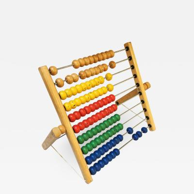 Colored wooden abacus 1980s