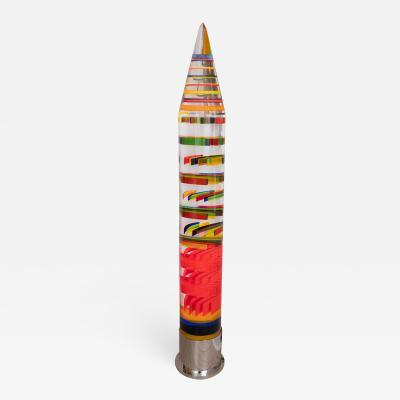 Colorful acrylic pencil floor lamp