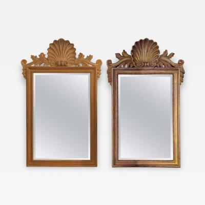 Compatible La Barge Italian Shell Carved Wall Console Mirror Made in Italy Pair