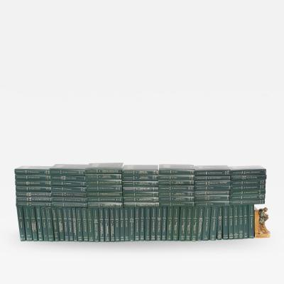 Complete Purdons Gilt Leather Bound Library Book Collection Set
