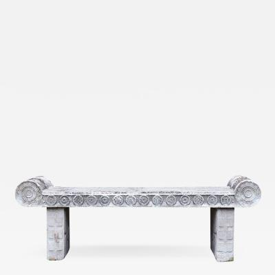 Composition Stone Bench