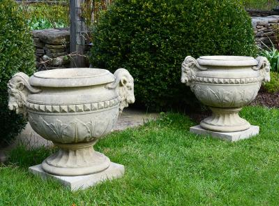 Composition Stone Urns