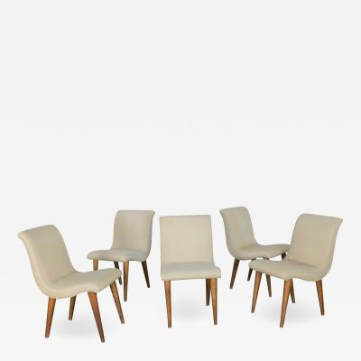 Conant Ball Dining chairs attributed to modernmates by leslie diamond for conant ball set 5