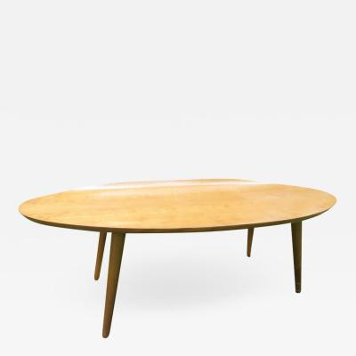 Conant Ball Lovely Conant Ball Curved Oval Top Surfboard Coffee Table by Russel Wright
