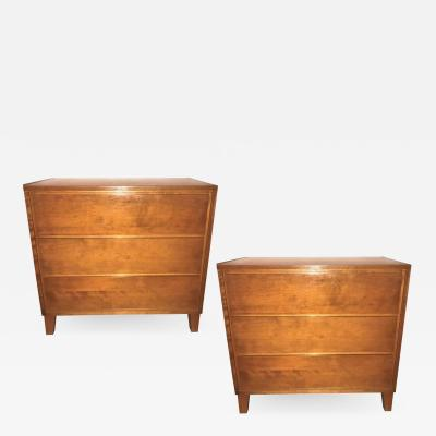 Conant Ball Pair of Custom Chests Commodes or Nightstands by Conant Ball Makers