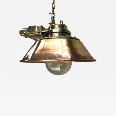 Conical Brass Ceiling Pendant