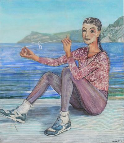 Contemporary Art 6 Foot Painting by Milano Khzanjian