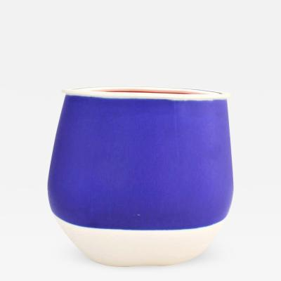 Contemporary Blue Ceramic Vase