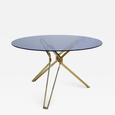Contemporary Brass And Fum Glass Circular Table The Netherlands