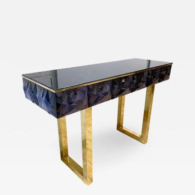 Contemporary Brass Console Murano Glass Italy