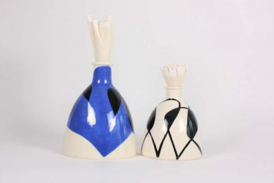 Contemporary Ceramic Bottle with Stopper Flacon Mer 33