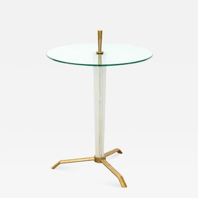 Contemporary Circular Drinks Side Table