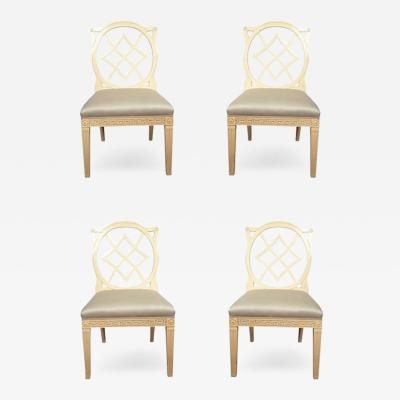 Contemporary Cream Painted Georgian Style Side Chairs