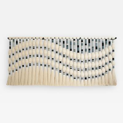 Contemporary Geometric Artisian Raw Cotton South American Sculpture Tapestry