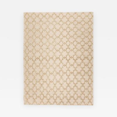 Contemporary Handmade Rug Geometric Design in Beige Soft Color 2 00 x 3 00 m