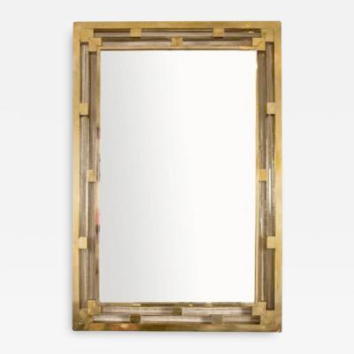 Contemporary Italian brass Murano glass mirror