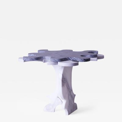 Contemporary Marble Carrera Puzzle Table