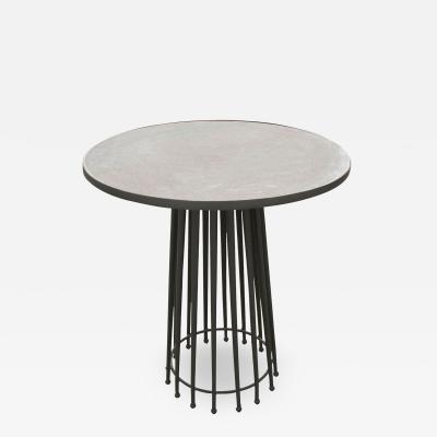 Contemporary Round Marble Top Needle Table