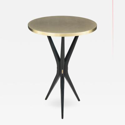 Contemporary Round Side Table With Tripod Base