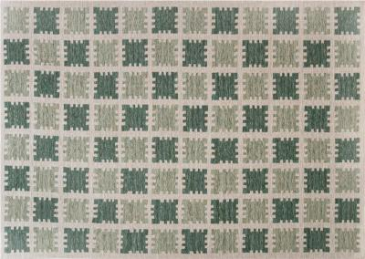 Contemporary Scandinavian Style Rug in Shades of Green