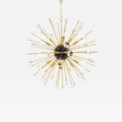 Contemporary Sputnik Chandeliers Comprised of Gilt Metal Rods