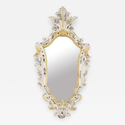 Continental 19th Cent Keystone Shaped Wall Mirror