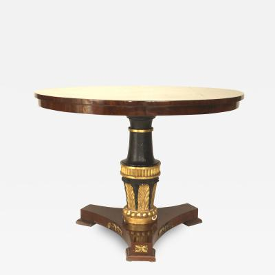 Continental Baltic Style Mahogany Center Table