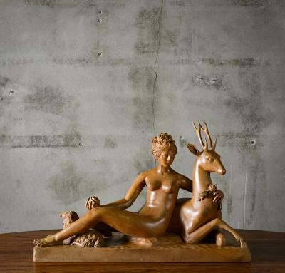 Continental Carved Wood Sculpture