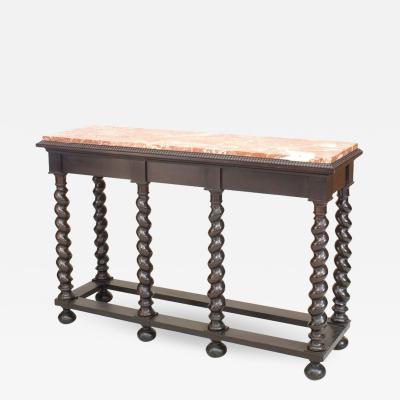 Continental Flemish Ebonized Console Table