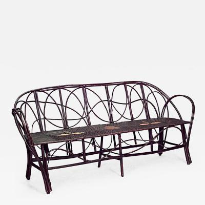 Continental Rustic Bent Willow Settee