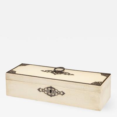 Continental Steel Decorated White Painted Spa Box
