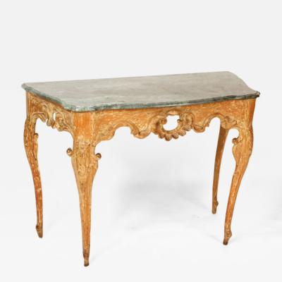 Continential Louis XV Style Marble Top Console Table