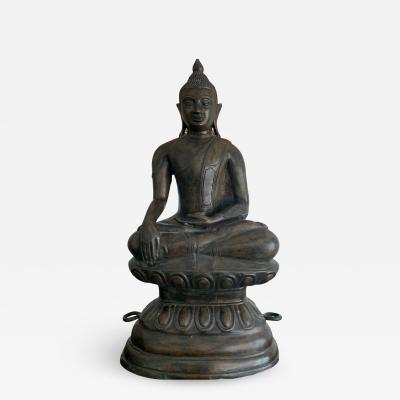 Copper Alloy Medicine Buddha Statue Southeast Asia