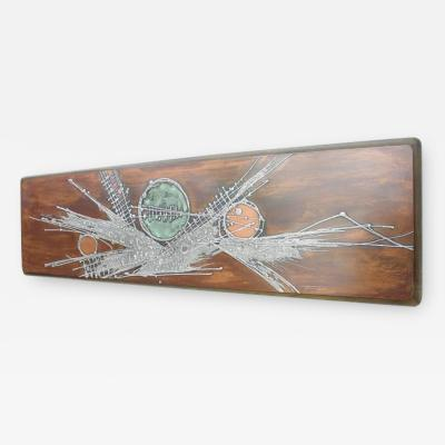 Copper Panel Wall Sculpture Signed with Jung 78 Germany 1970s