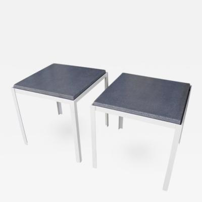 Corinne Robbins Polished Concrete and Welded Steel Night Stands Coffee Tables Corinne Robbins