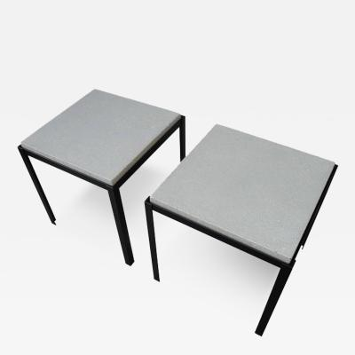 Corinne Robbins Polished Concrete and Welded Steel Night Stands Coffee Tables by Corinne Robbins