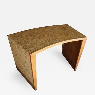 Cork Covered Oak Writing Table from Steve McQueens Residence in Palm Springs
