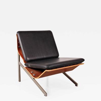Cornelis Zitman 1964s Rare Cornelis Zitman Leather Easy Chair
